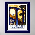 Vintage Travel Germany The Black Forest Large Size
