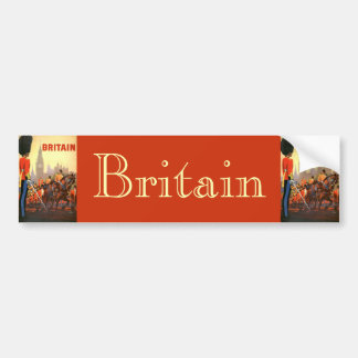 Vintage Travel Great Britain England Royal Guard Bumper Sticker