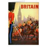 Vintage Travel, Great Britain England, Royal Guard Greeting Card