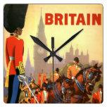 Vintage Travel, Great Britain England, Royal Guard Wall Clock