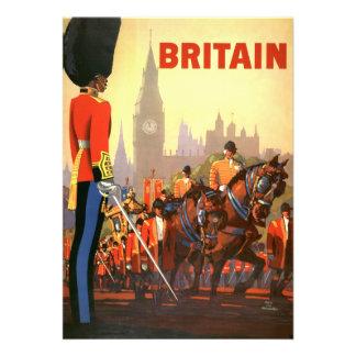 Vintage Travel Great Britain England Royal Guard Custom Announcements