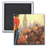 Vintage Travel, Great Britain England, Royal Guard Fridge Magnet