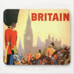 Vintage Travel, Great Britain England, Royal Guard Mouse Pads