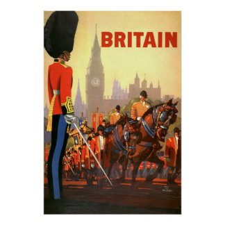 Vintage Travel Great Britain England Royal Guard Posters