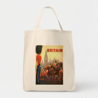 Vintage Travel, Great Britain England, Royal Guard Tote Bag