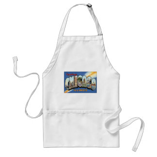 Vintage Travel, Greetings from Chicago Illinois Standard Apron