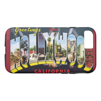 Vintage Travel Greetings from Hollywood California iPhone 7 Case