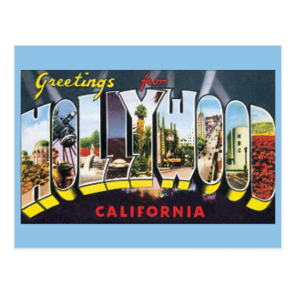 Vintage Travel Greetings from Hollywood California Post Card