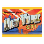 Vintage Travel, Greetings from New York City NYC
