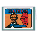 Vintage Travel Illinois IL State Label Art Cards