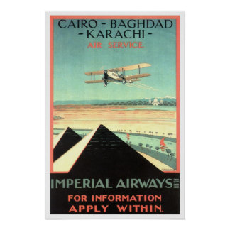 Vintage travel,Imperial Airways Poster
