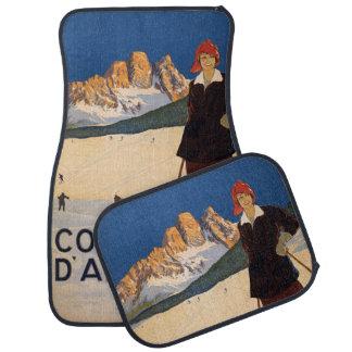 Vintage Travel Italian Alps Italy car floor mats
