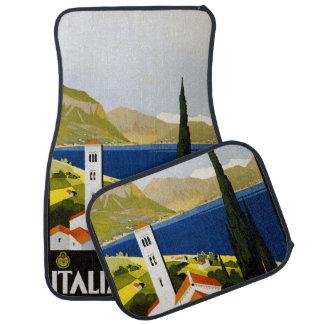 Vintage Travel Italian Lakes car floor mats