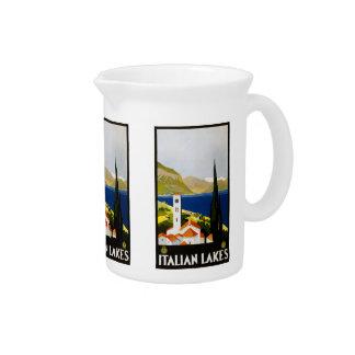 Vintage Travel Italian Lakes Italy pitcher
