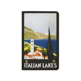 Vintage Travel Italian Lakes Italy pocket journal