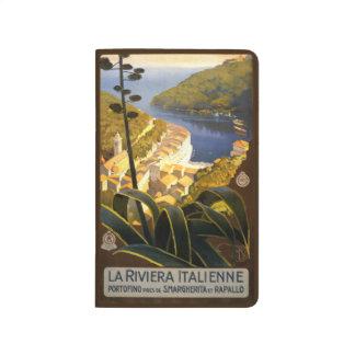Vintage Travel Italian Rivier Italy pocket journal