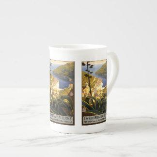 Vintage Travel Italian Riviera Italy mugs