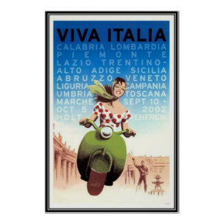 Vintage travel Italy - Poster