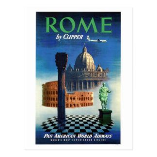 Vintage travel Italy Rome - Post Card