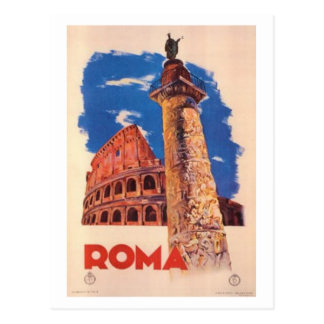 Vintage travel Italy, Rome  - Postcard