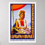 Vintage Travel Java and Bali Poster