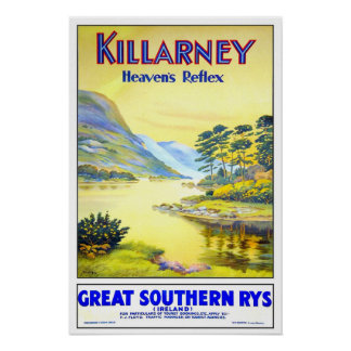 Vintage travel,Killarney Poster