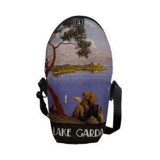 Vintage Travel Lake Garda Italy messenger bags