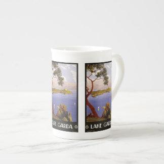Vintage Travel Lake Garda Italy mugs