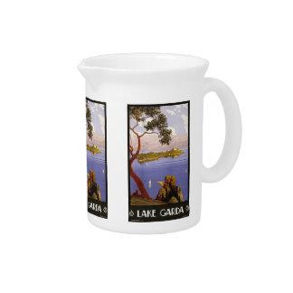 Vintage Travel Lake Garda Italy pitcher