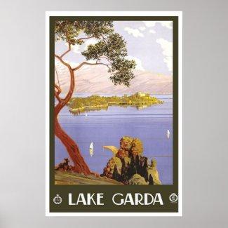 Vintage travel,Lake Garda