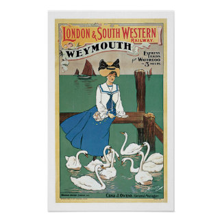 Vintage Travel,London & South Western Railway Poster