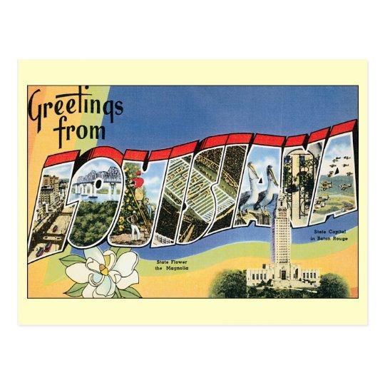 Vintage Travel, Louisiana, Change of Address Postcard