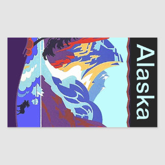 Vintage Travel Luggage Stickers Alaska Scrapbook