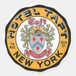 Vintage Travel Luggage Stickers NYC NY Hotel Taft