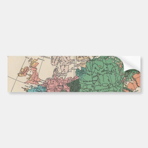 Vintage Travel Map Bumper Stickers