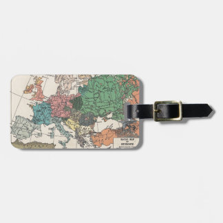 Vintage Travel Map Luggage Tag