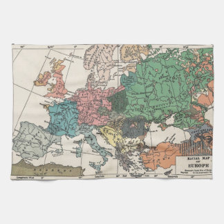 Vintage Travel Map Tea Towel