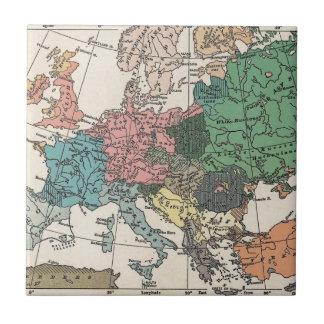 Vintage Travel Map Tile