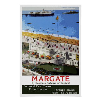 Vintage travel,Margate Poster