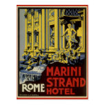 Vintage Travel, Marini Strand Hotel, Rome, Italy Post Card