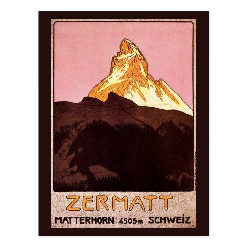 Vintage Travel, Matterhorn Mountain, Switzerland Postcards