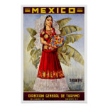 Vintage travel,Mexico Print