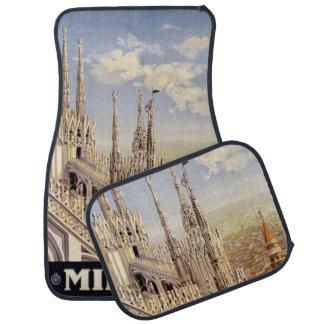 Vintage Travel Milano Milan Italy car floor mats