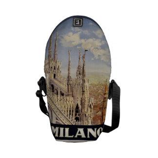 Vintage Travel Milano Milan Italy messenger bags