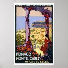 Vintage travel,Monte-Carlo Poster