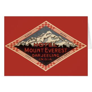 Vintage Travel, Mount Everest, Darjeeling India Card
