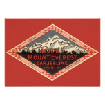 Vintage Travel, Mount Everest, Darjeeling India Custom Announcement