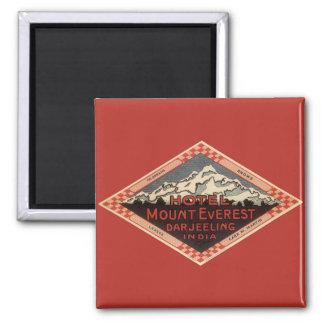 Vintage Travel, Mount Everest, Darjeeling India Magnet