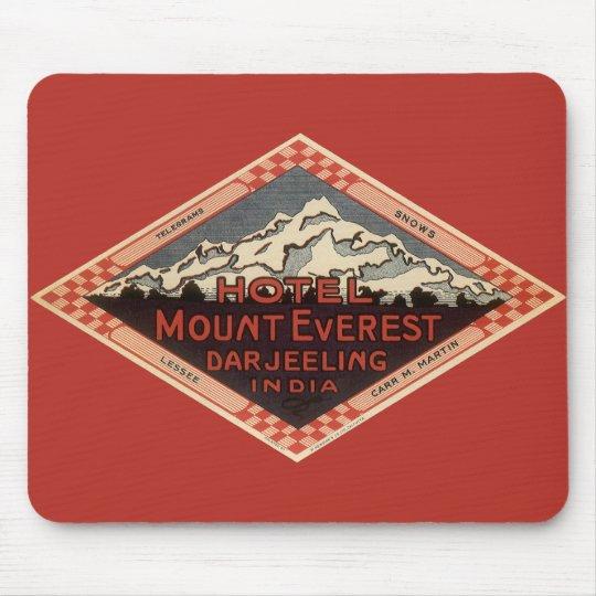 Vintage Travel, Mount Everest, Darjeeling India Mouse Mat