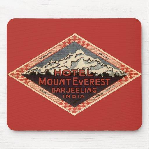 Vintage Travel, Mount Everest, Darjeeling India Mousepads